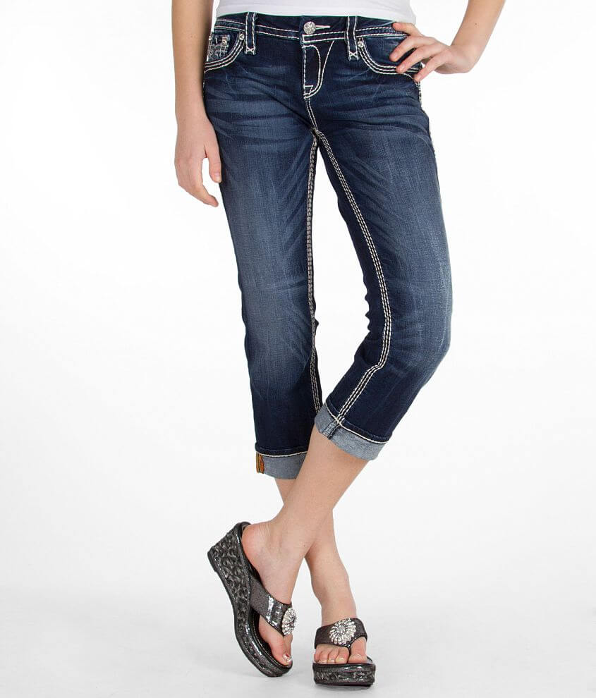 Rock Revival Vivian Easy Stretch Cropped Jean front view