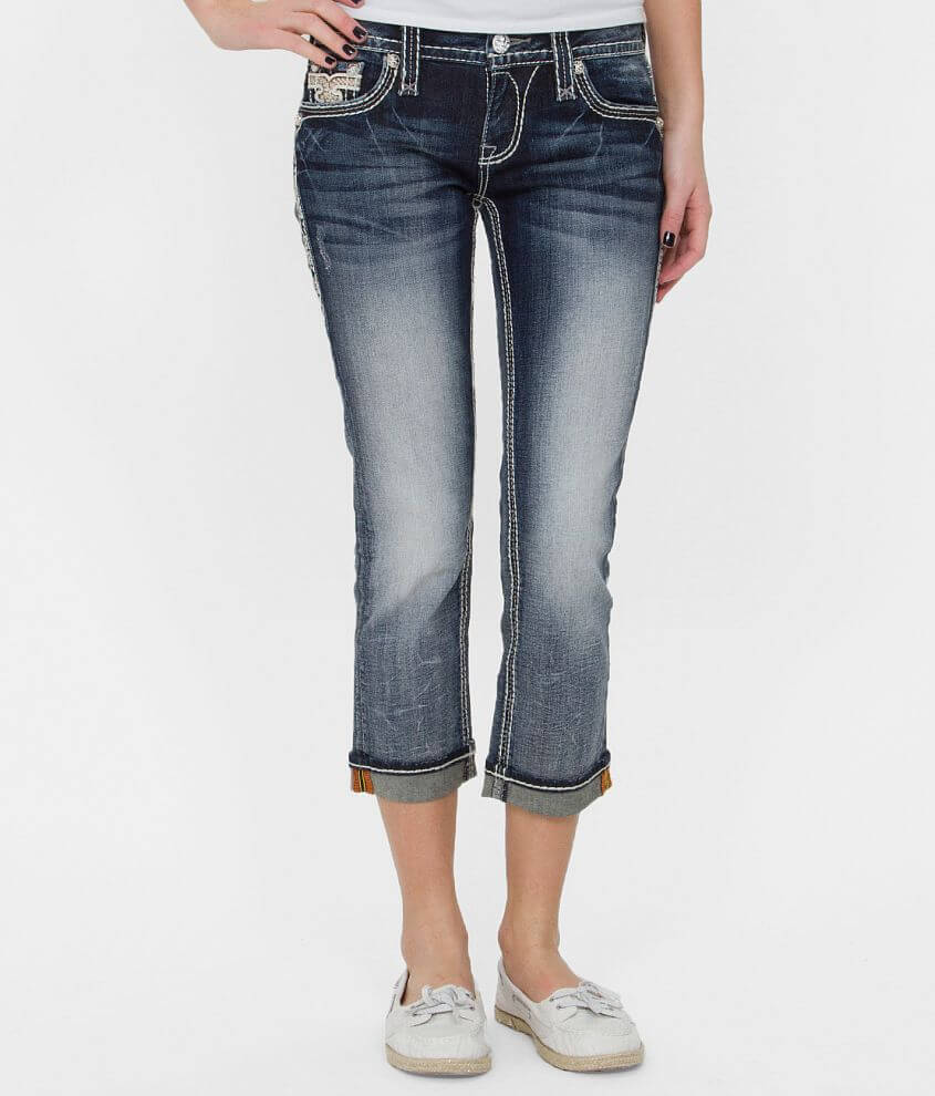 Rock Revival Betty Stretch Cropped Jean front view