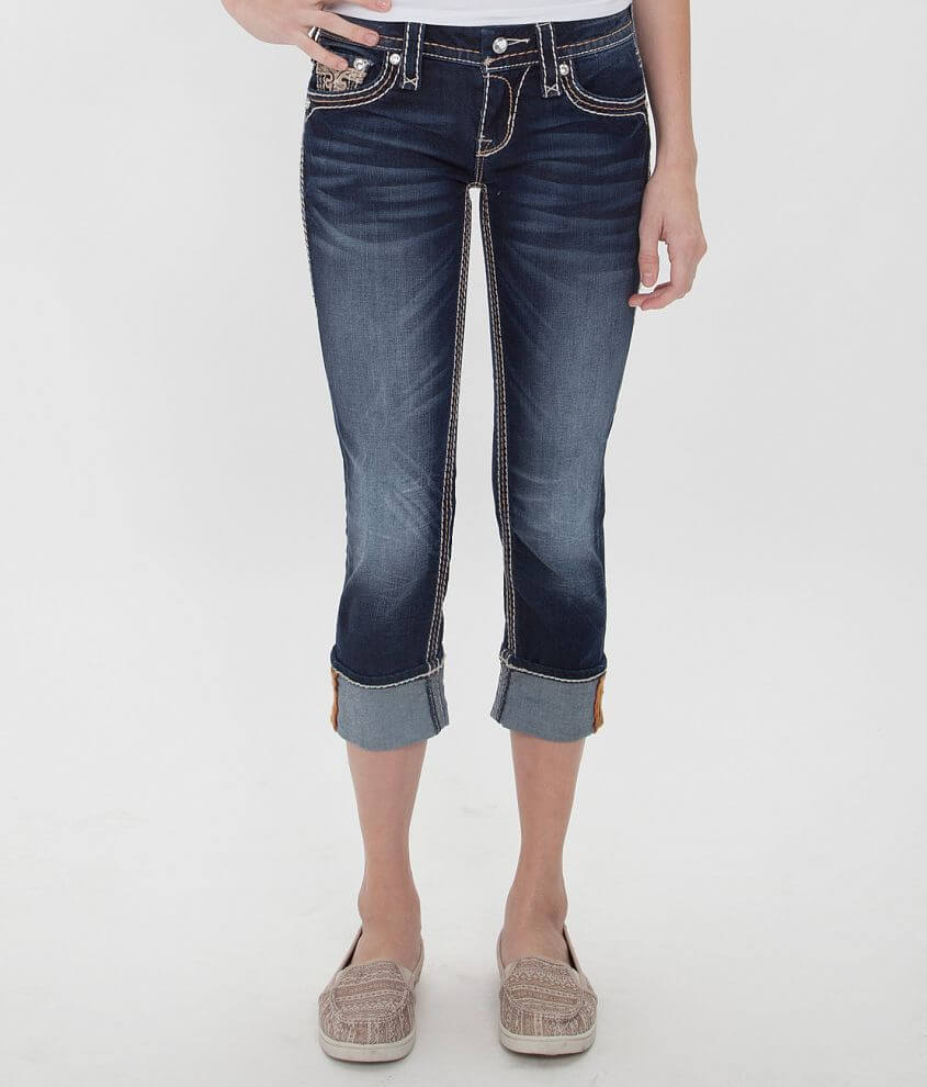 Rock Revival Sorrel Cropped Stretch Jean front view