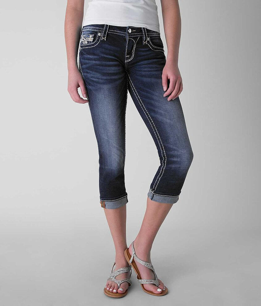 Rock Revival Isellin Stretch Cropped Jean front view