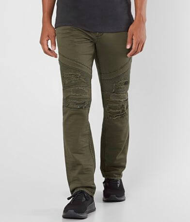 Rock Revival Olive Biker Stretch Twill Pant