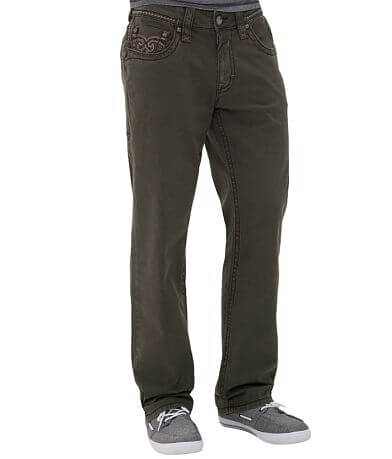 Rock Revival Relaxed Straight Stretch Twill Pant