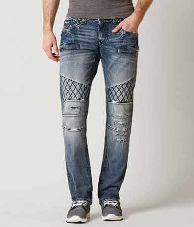 Rock Revival Pierre Biker Straight Stretch Jean