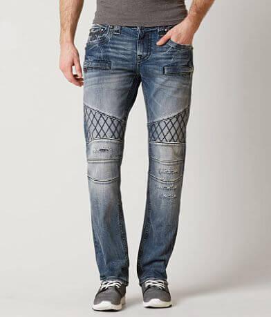 Rock Revival Pierre Biker Straight Stretch Jean