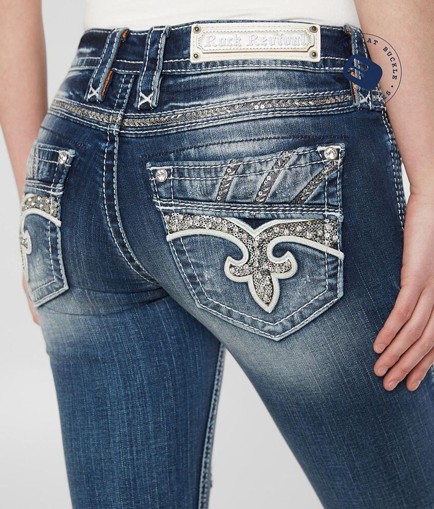 Rock Revival Darcey Stretch Cropped Jean front view