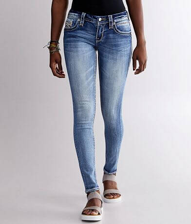 Rock Revival Tea Rose Mid-Rise Skinny Stretch Jean