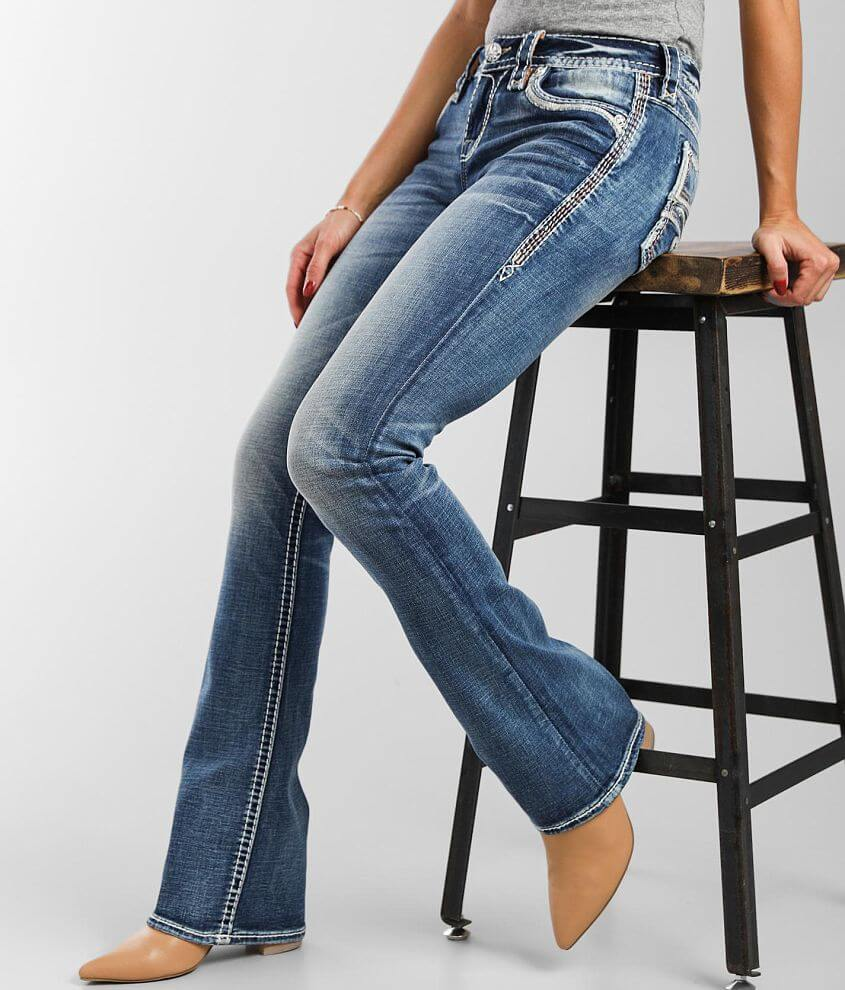 Rock Revival Peach Bud Mid-Rise Boot Stretch Jean front view