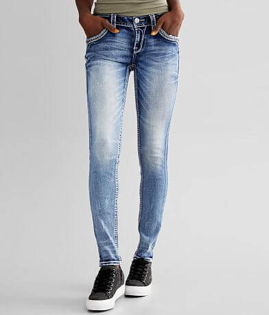 Rock Revival Elfin Yellow Skinny Stretch Jean