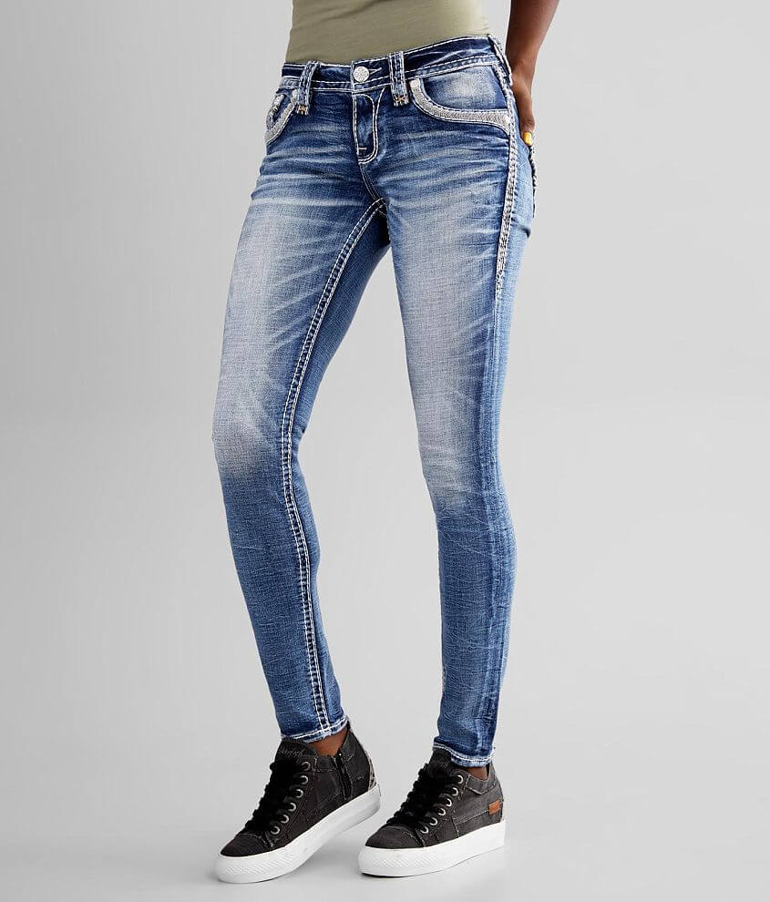 Rock Revival Lilac Rose Skinny Stretch Jean front view