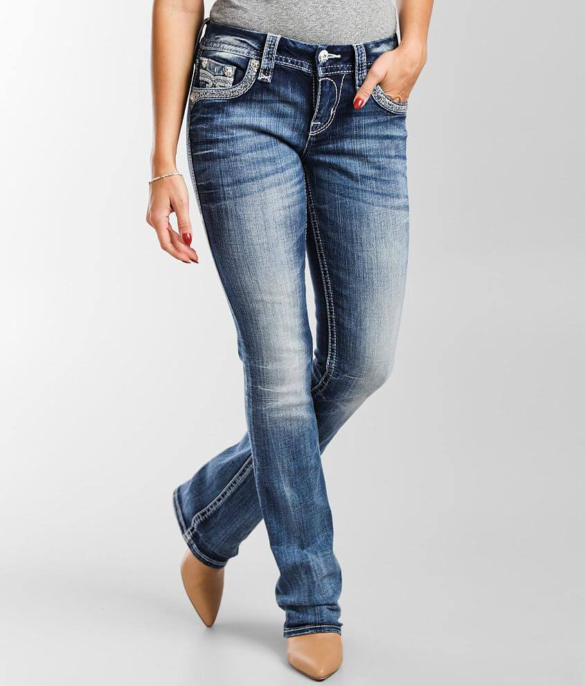 Rock Revival Moon Mist Mid-Rise Boot Stretch Jean front view