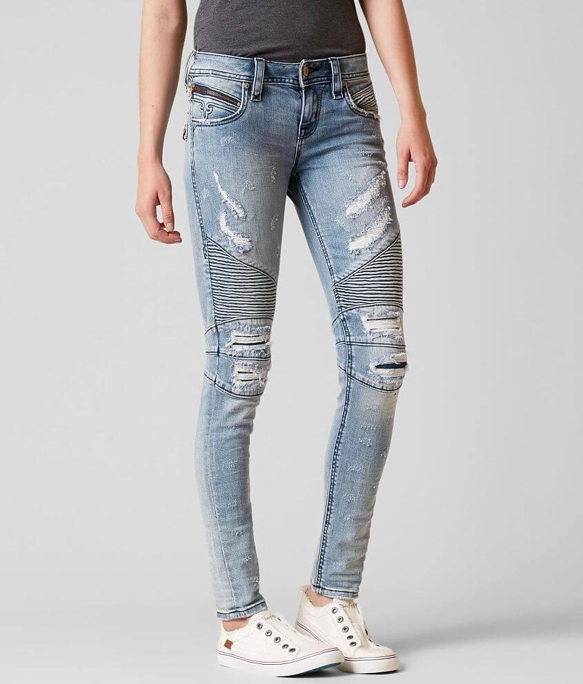 172a87c2b5c9 Rock Revival Nelrose Moto Skinny Stretch Jean - Women's Jeans in ...