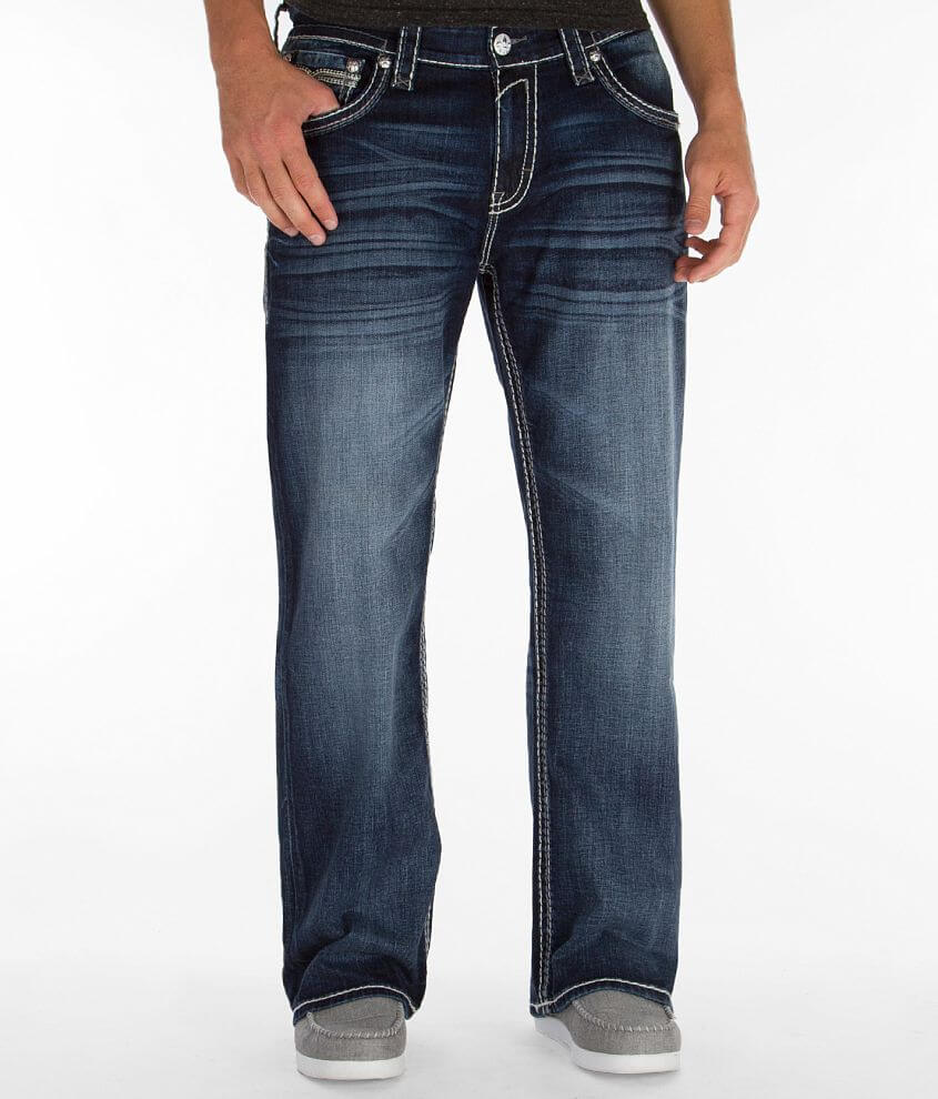 Rock Revival Terry Relaxed Straight Jean front view