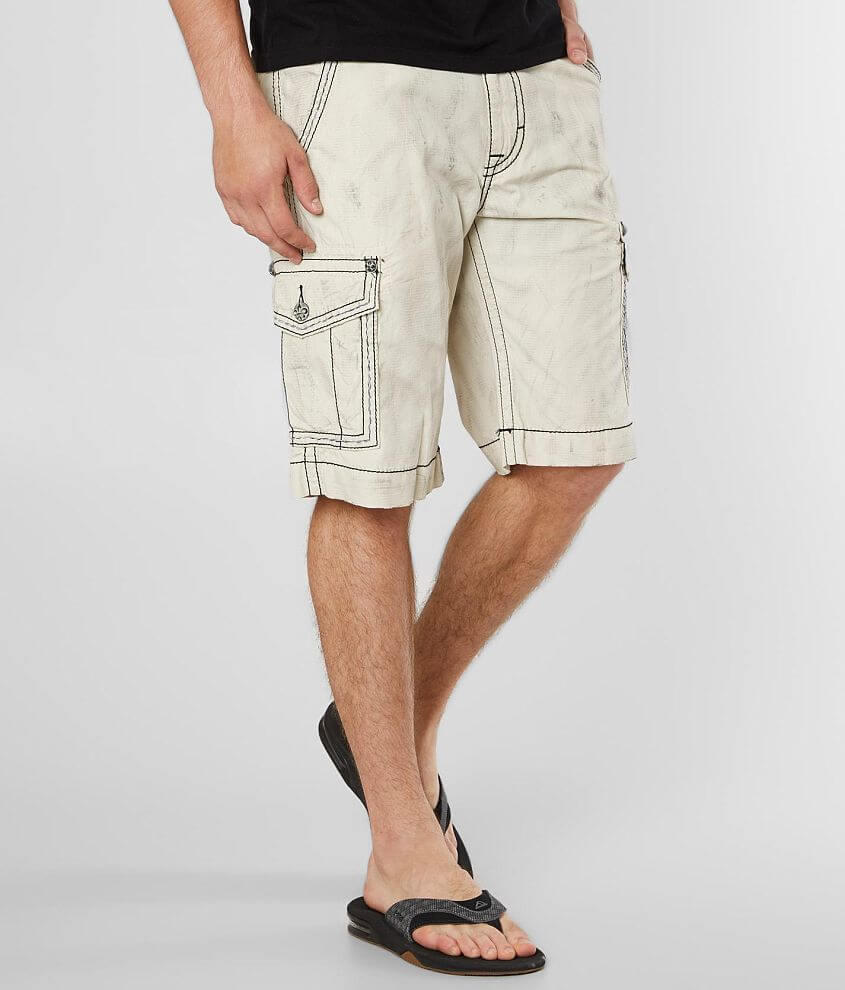 Slim fit washed ripstop short 11 1/2\\\
