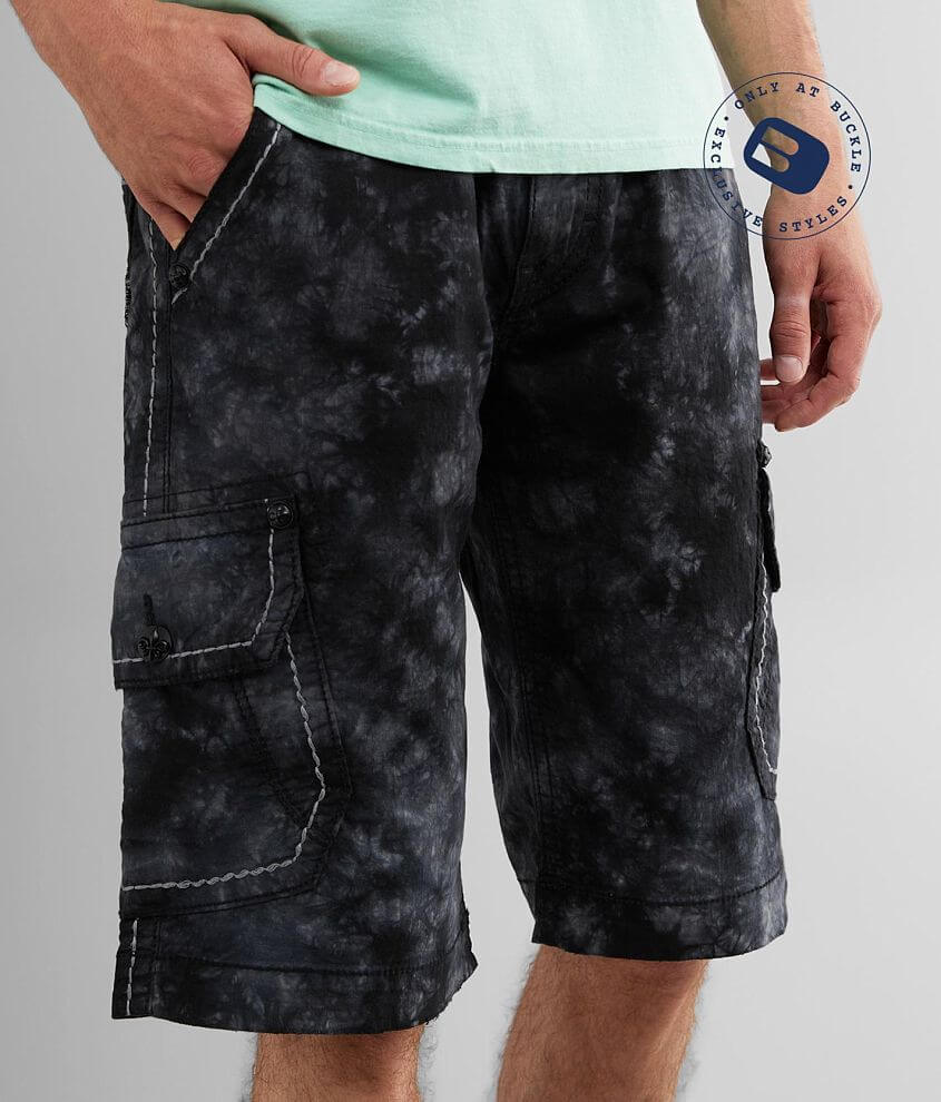 Rock Revival Classic Tie Dye Cargo Stretch Short front view