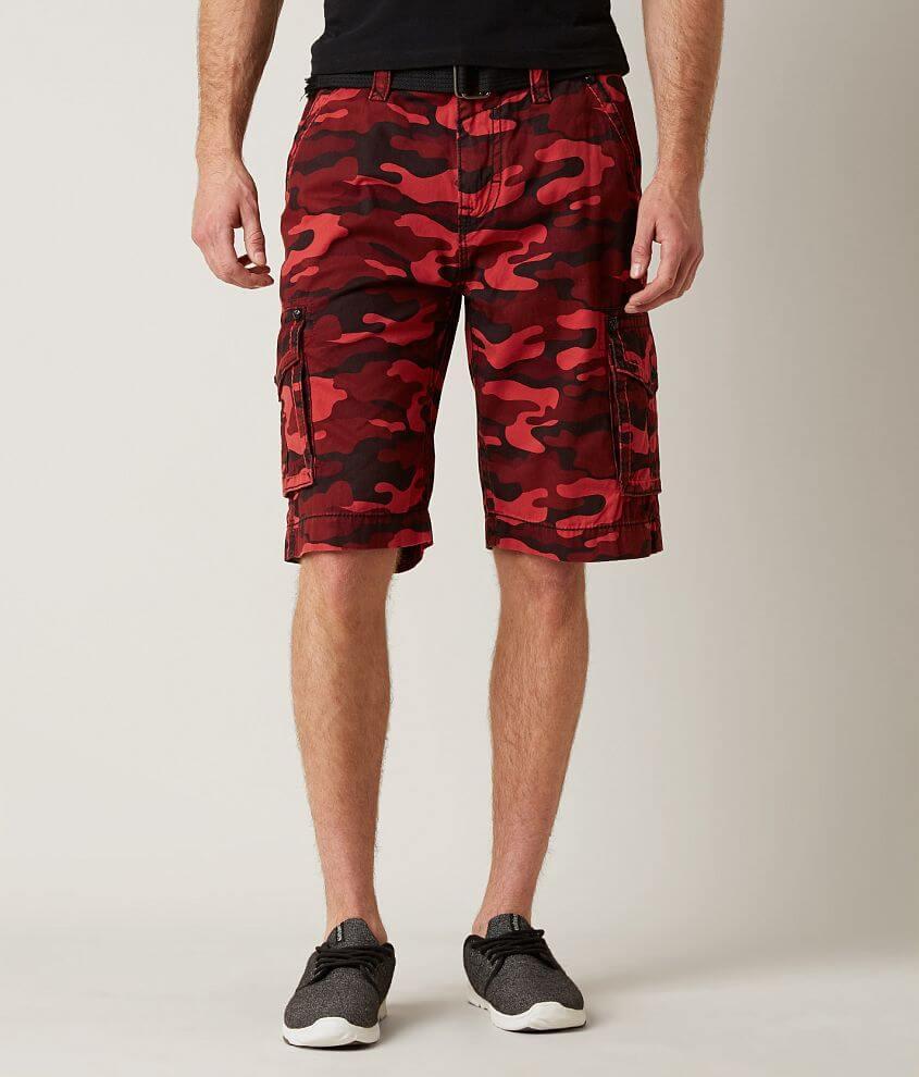 Rock Revival Classic Cargo Short - Men s Shorts in Red Camo  bf9bc0e69075