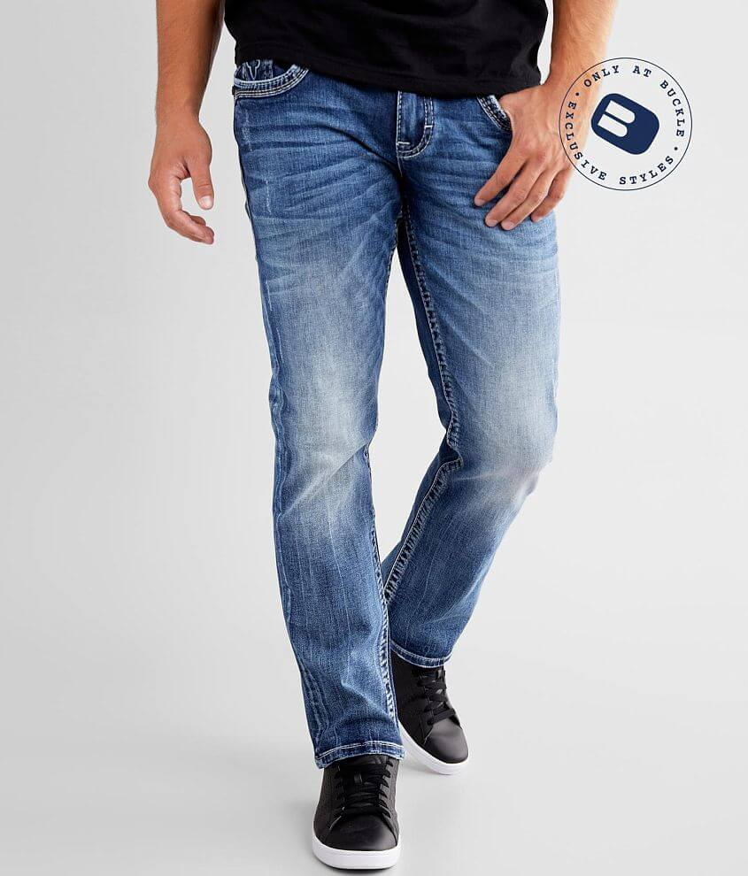 Regular fit jean Comfort stretch fabric Straight from knee to hem Low rise, 16\\\