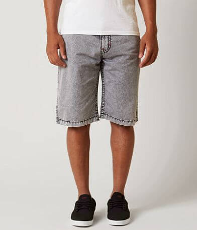 Rock Revival Washed Flat Front Short