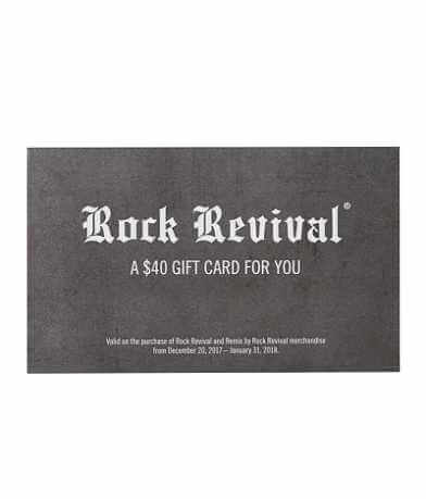 Rock Revival Gift Card Promotion