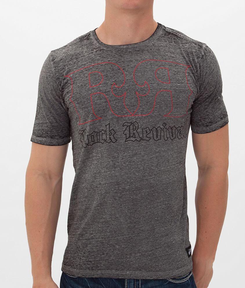 Rock Revival Double R Outline T-Shirt front view