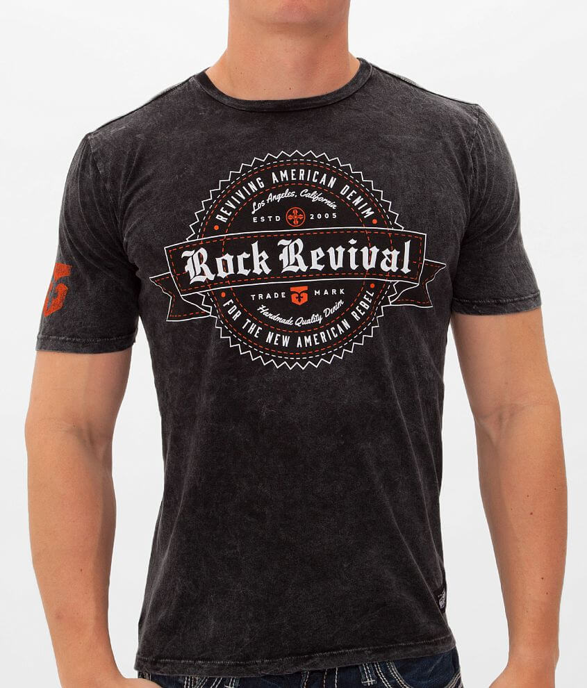 Rock Revival Banner & Seal T-Shirt front view