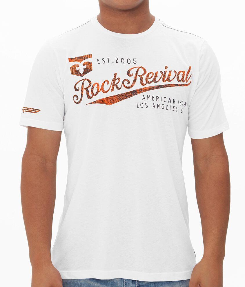 Rock Revival American Tag Fingerprint T-Shirt front view
