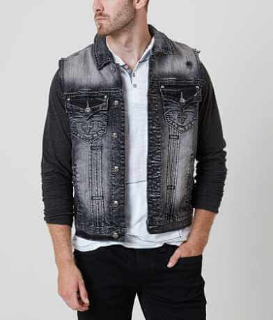 Rock Revival Luciano Denim Stretch Vest