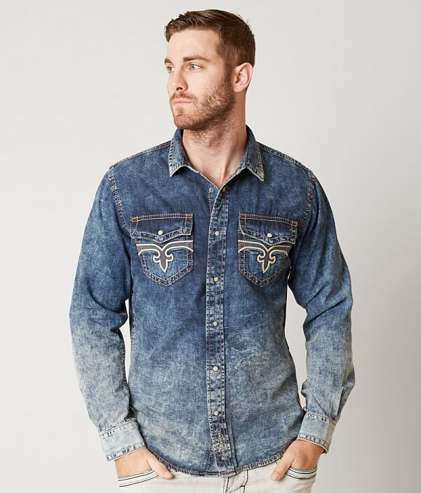 Shirt Revival Revival Rock Denim Rock Shirt Denim Rock Denim Revival z0gHzq
