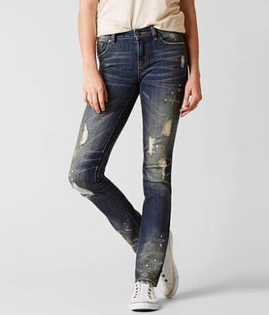 Rock Revival Remix Mid-Rise Straight Stretch Jean