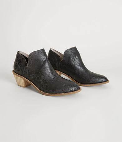 Kelsi Dagger Crackled Leather Ankle Boot
