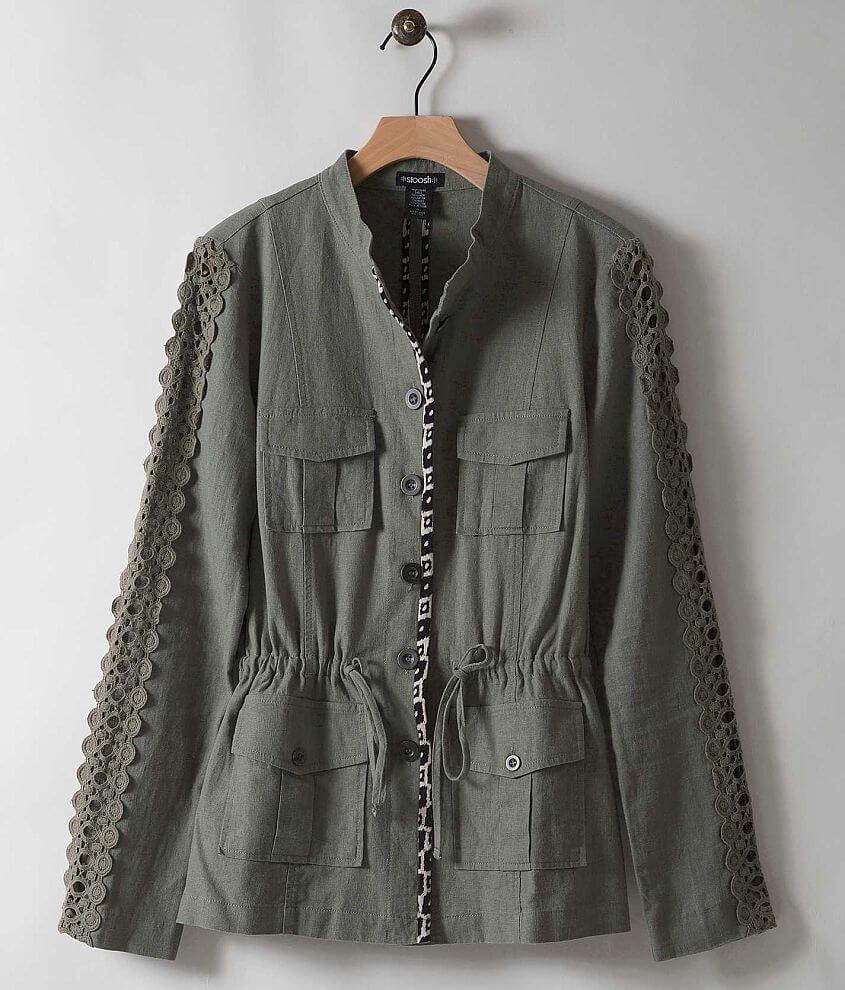 Stoosh Linen Blend Jacket front view