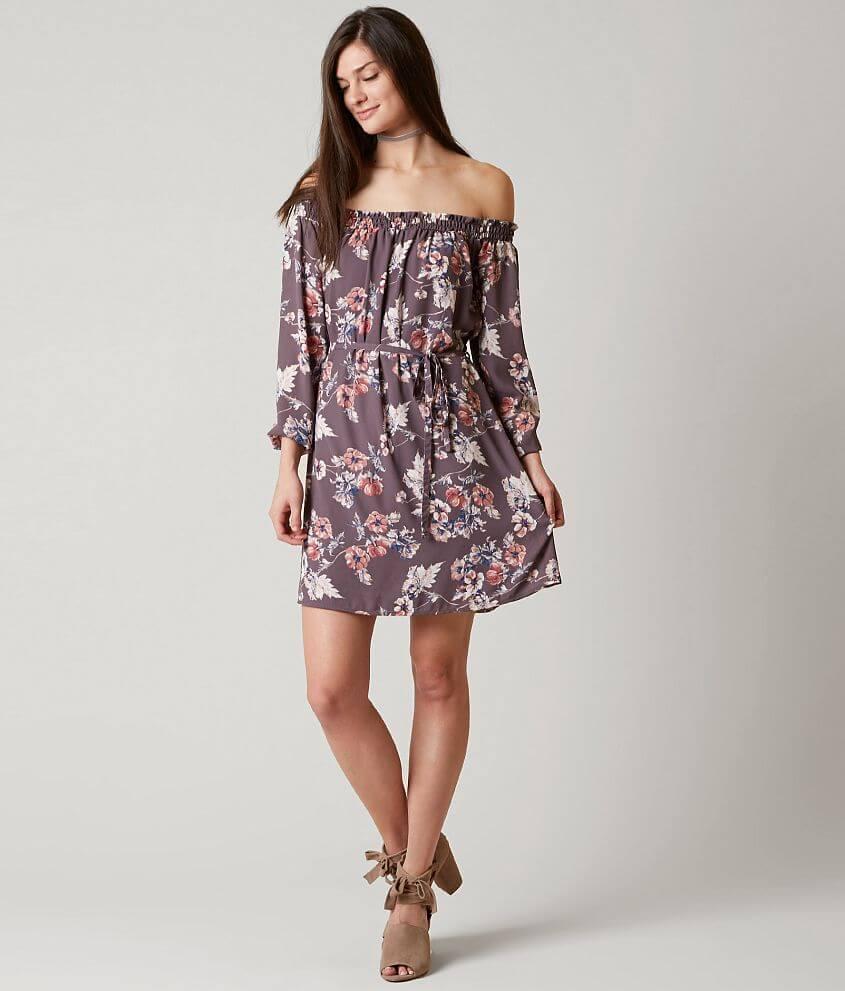 678e30c58019f Rokoko by Dazz Floral Dress - Women s Dresses in Dusty Purple W ...