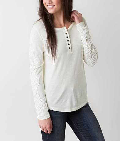BKE Slub Fabric Henley Top