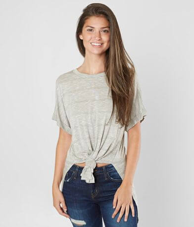 BKE Striped Scoop Neck Top