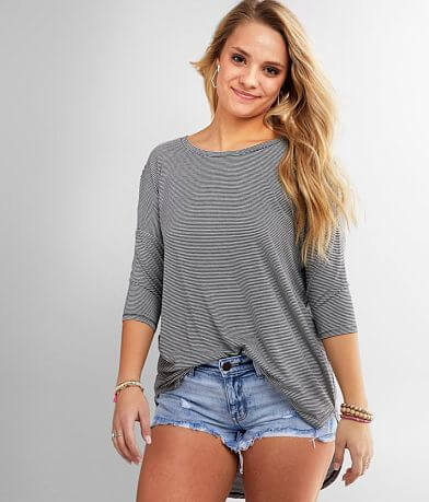 BKE Striped Tunic T-Shirt