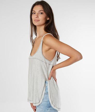 BKE Ribbed Scoop Neck Tank Top