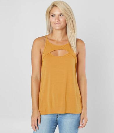 red by BKE Keyhole Tank Top