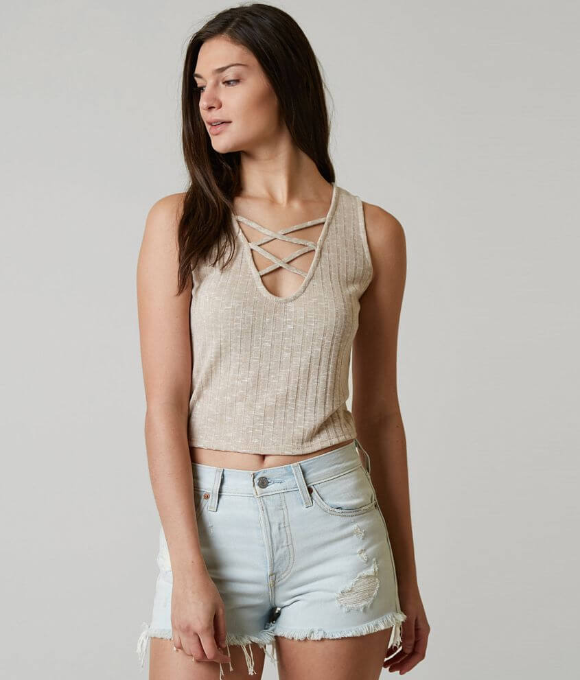 d73967a586f569 red by BKE Knit Tank Top - Women s Tank Tops in Sand Off White