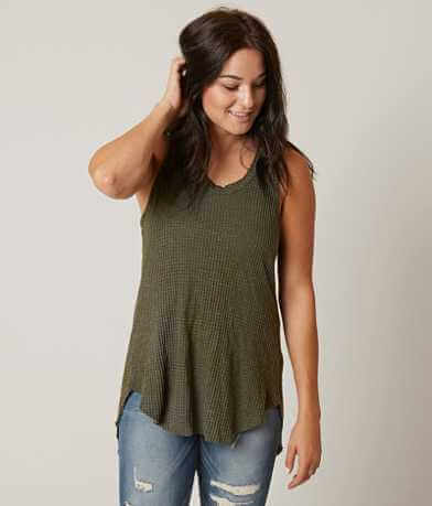 Gilded Intent Waffle Tank Top
