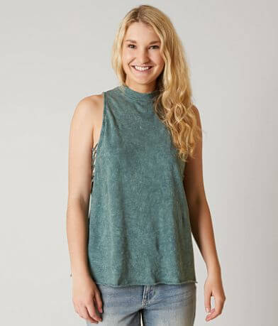 Gilded Intent Mock Neck Tank Top