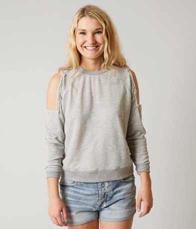 Gilded Intent Cold Shoulder Sweatshirt