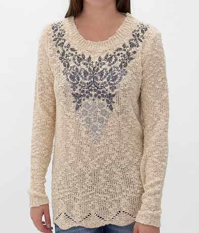 Solitaire Embroidered Sweater
