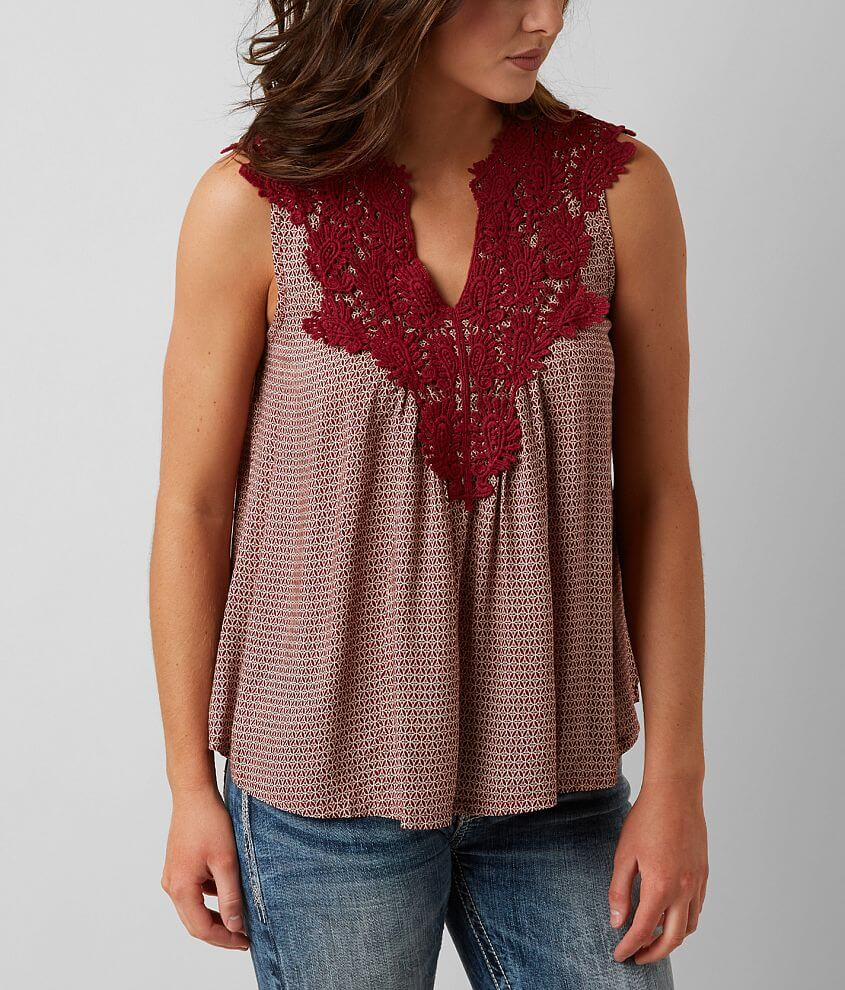 Solitaire Printed Tank Top front view
