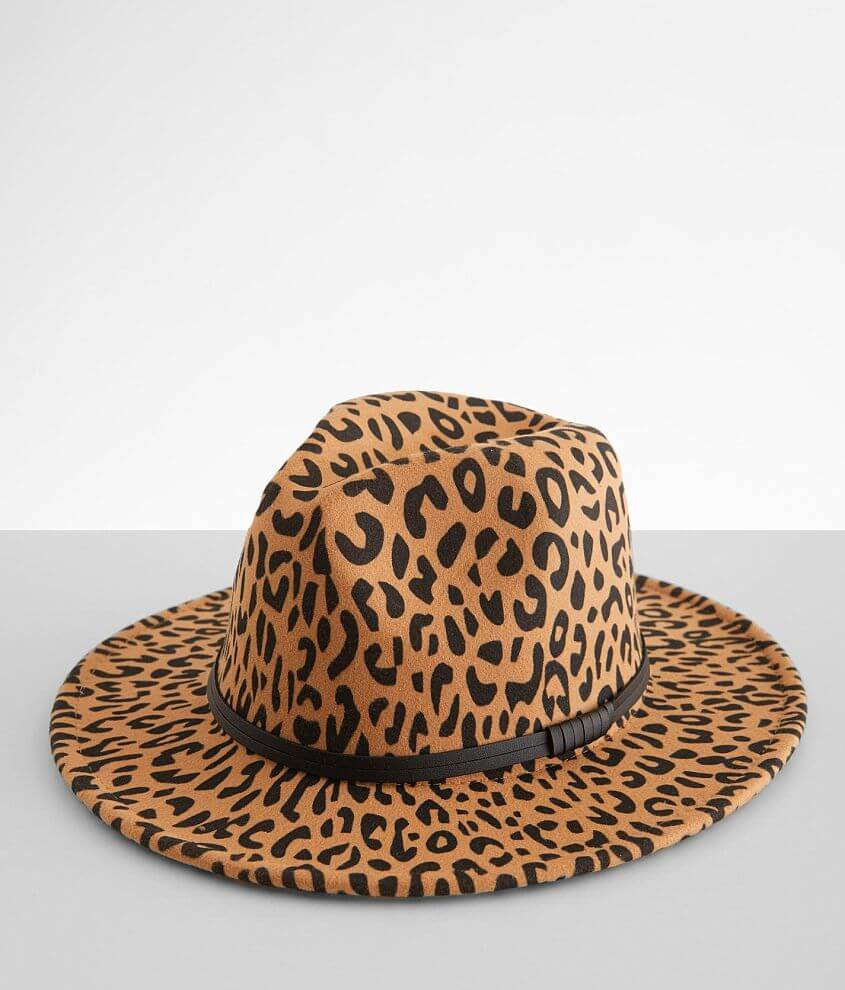 Ruby's Rubbish Leopard Fedora Hat front view