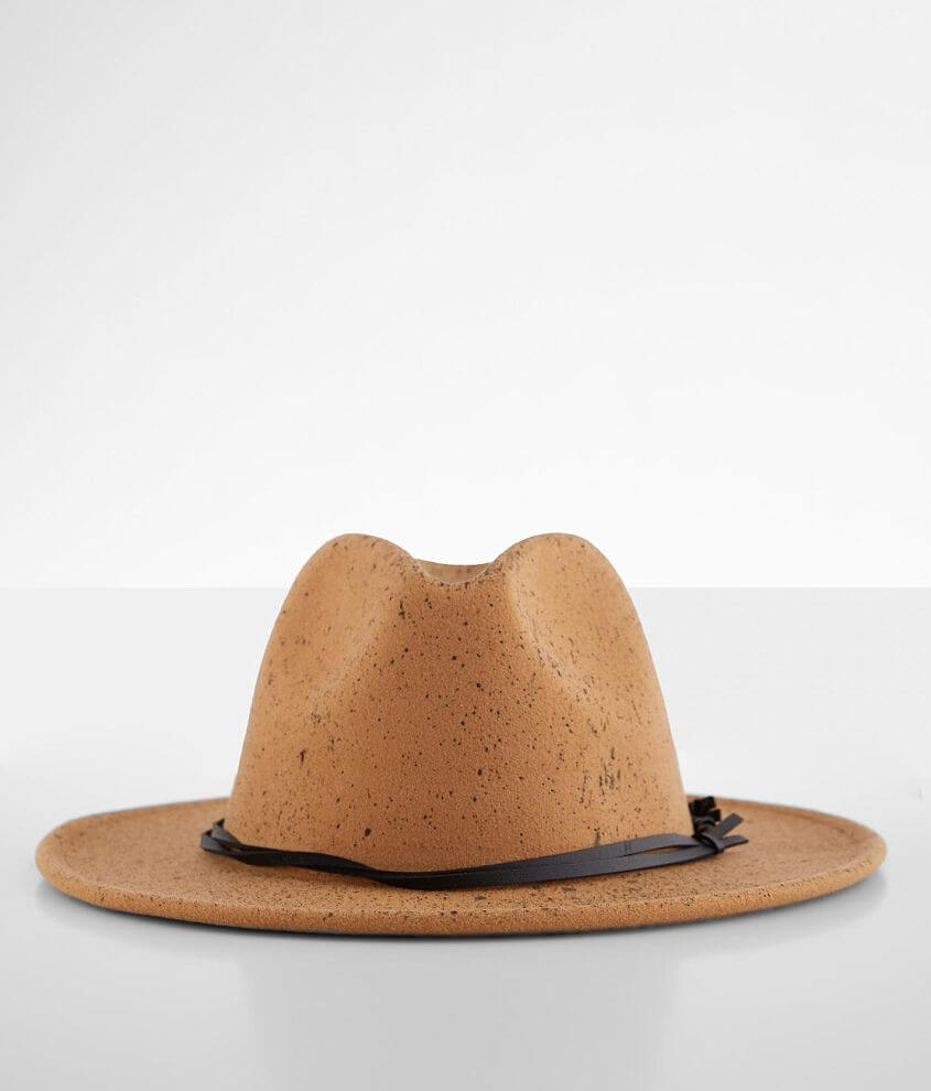 Ruby's Rubbish Speckled Felt Fedora Hat front view