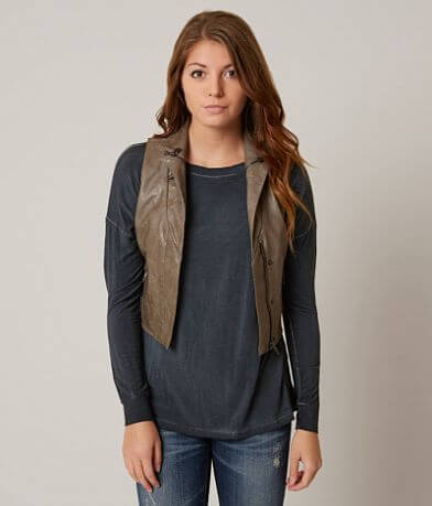 Be by Blanc Noir Faux Leather Vest