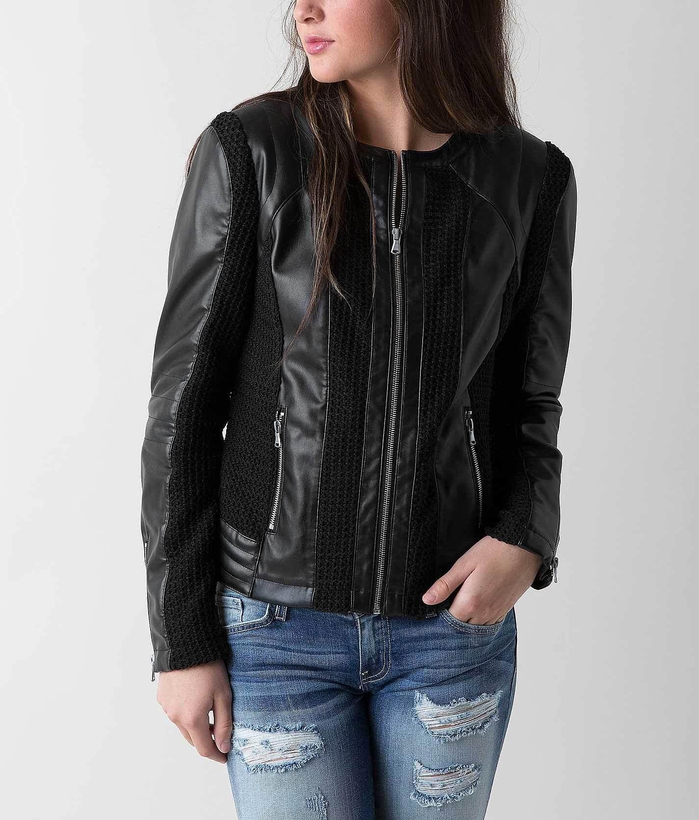 Blanc noir jacket leather
