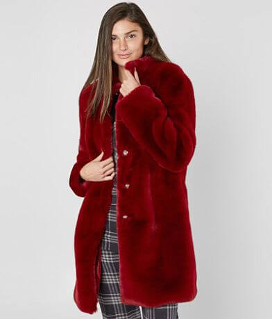 Runway Faux Fur Queen Coat