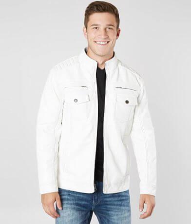 Buckle Black Faux Leather Jacket