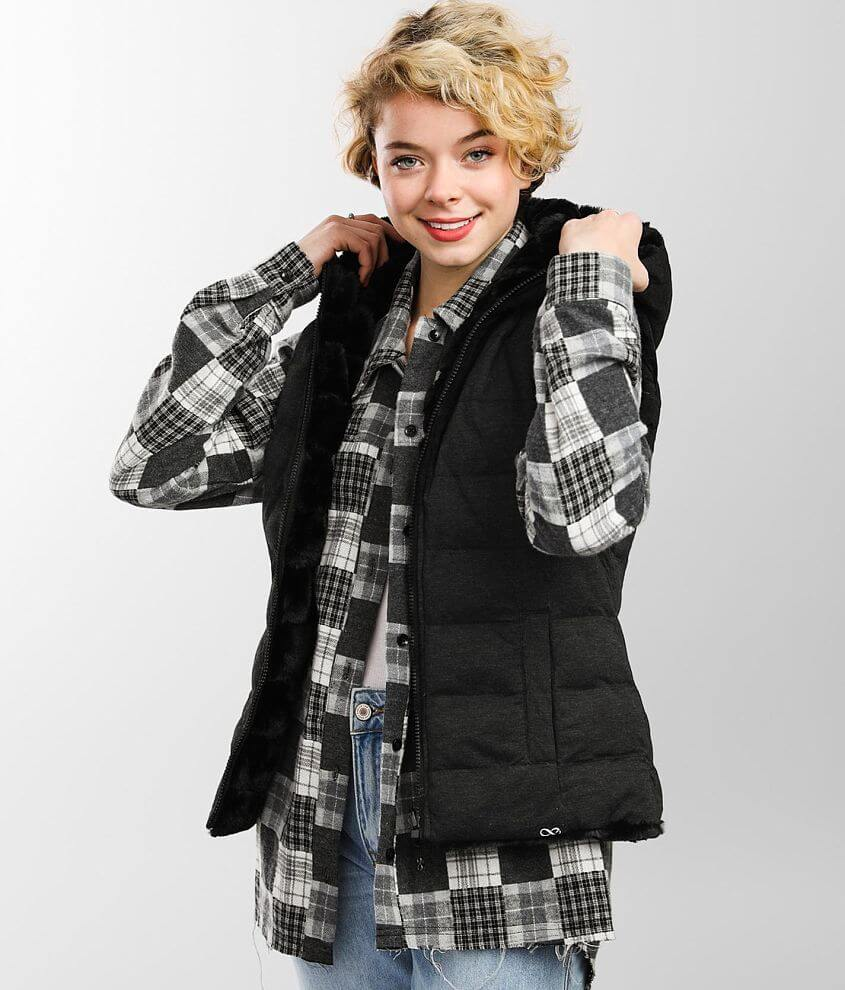 Be Boundless Quilted Reversible Vest front view