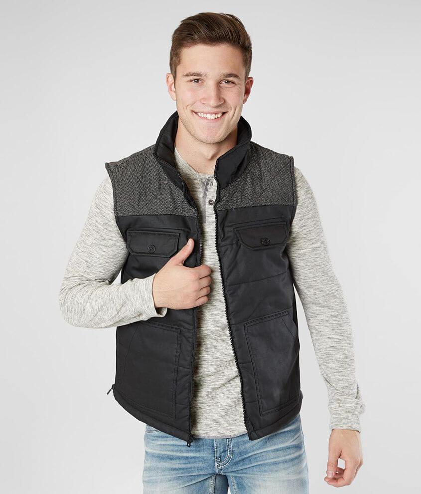Buckle Black Cotton Vest front view